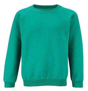 Sweatshirt in Jade